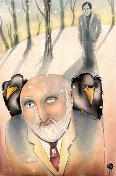(Wednesday, Hugin and Munin) Super Punch: Art inspired by Neil Gaiman's American Gods