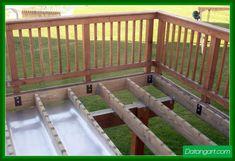Building A Deck 793196553100900352 - Exceptional Waterproof Under Deck Storage Under Deck Ideas Under Deck Storage Waterproof Source by eddydebienne Deck Railings, Roof Deck, Deck Stairs, Under Deck Roofing, Under Deck Storage, Laying Decking, Under Decks, Deck Construction, Diy Deck