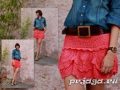 Openwork Crochê Saia 1 /Ажурная юбка крючком 1 / Openwork Crochet Skirt 1