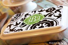 Personalized Casserole Dish | Monogrammed Casserole Serving Dish | Monogram Casserole Pan