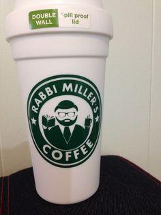 Rabbi starbucks mug