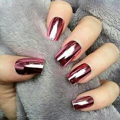 Imagen de nails, pink, and red