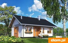 DOM.PL™ - Projekt domu AN ANTEK CE - DOM AN3-28 - gotowy koszt budowy House Plans, Outdoor Structures, Cabin, Mansions, Interior Design, Bedroom, House Styles, Outdoor Decor, House Ideas