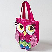 Polka Dot Owl Tote