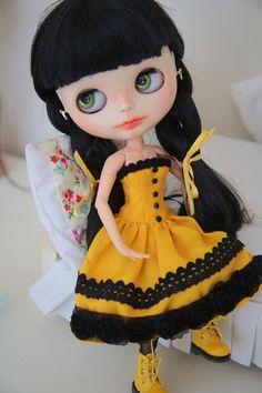 OOAK Custom Blythe Doll Mitzi by Bravura Dolly