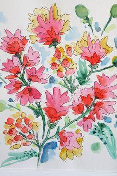 Grande Modern Flowers Print II