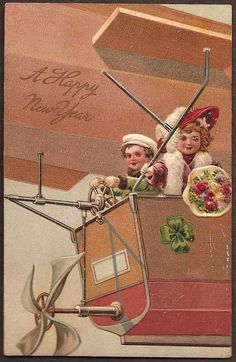 Happy New Year vintage card