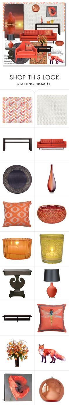 """""""Red Fox"""" by angelicallxx on Polyvore featuring interior, interiors, interior design, home, home decor, interior decorating, Tiffany & Co., Anja, Brewster Home Fashions and Joybird Furniture"""
