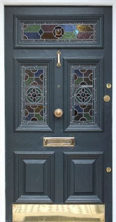 victorian terrace house with stain glass door - Google Search