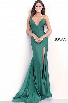 71c53f2b Emerald Fitted Strapless High Slit Prom Dress 67593. Prom Dresses JovaniMermaid  GownPlunging NecklinePretty DressesBeautiful DressesLong ...
