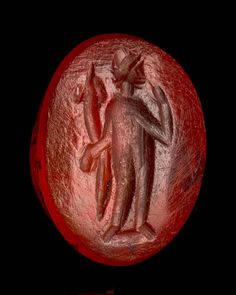Oval gem with Tyche(?) | Museum of Fine Arts, Boston