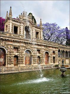 Estanque de Mercurio, Alcázar, Sevilla España.