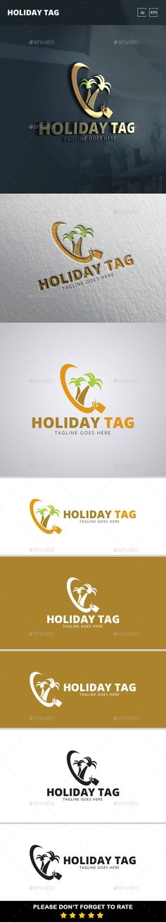 Holiday Tag Logo Template