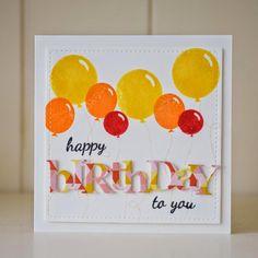 Avery Elle Balloons Papertrey Ink Birthday die