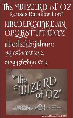 The Original Wizard Of Oz Font – 1939 Movie Title Typography