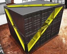 LOT-EK: whitney studio shipping container installation