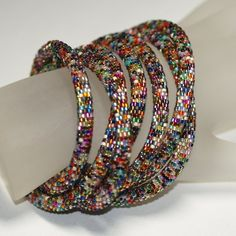 Nuru ... Bead Crochet Rope . Necklace . Bracelet . by time2cre8