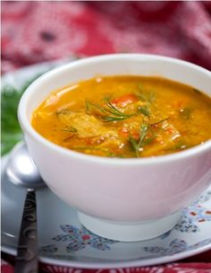Kosher Moroccan fish soup - if I ever live in a place where fresh fish is affordable and convenient to come by (obviously not Iowa)