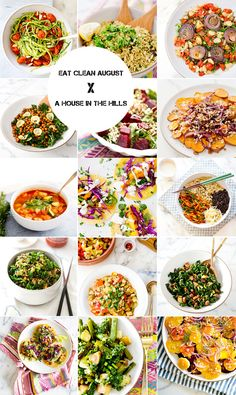 Eat Clean August :  Recipes via A House in the Hills