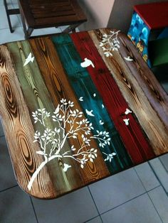 Love these colours - ccl armarios paint furniture, diy furniture, funky hom Diy Furniture Table, Diy Furniture Projects, Funky Furniture, Paint Furniture, Repurposed Furniture, Furniture Makeover, Wood Projects, Furniture Removal, Furniture Online