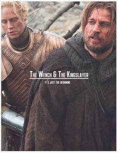 Jaime and Brienne - The Wench & The Kingslayer Jamie Lannister And Brienne, Jaime And Brienne, Brienne Of Tarth, Lady Brienne, Game Of Thrones Sigils, Game Of Thrones Books, Game Of Thrones Funny, Vikings Game, Fandom Games