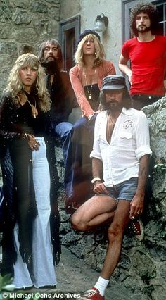 Mick Fleetwood snorted a line of cocaine 7 miles long - The band in the Seventies (from left), Stevie Nicks, Mick Fleetwood, Christine McVie, John McVie and Lindsey Buckingham