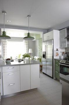 sarah richardson sarah 101 green kitchen subway tile island