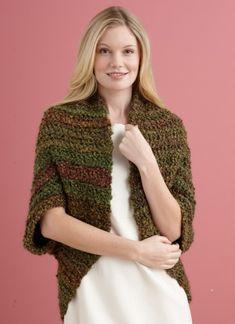 Free Crochet Pattern L20507C Simple Crochet Shrug : Lion Brand Yarn Company