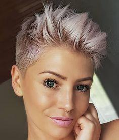 # h # s # pixie # haircut # short # blonde # blondehair # blonde # haircuts # pixie Funky Short Hair, Short Grey Hair, Short Hair Cuts, Short Hair Styles, Short Blonde Pixie, Blonde Haircuts, Short Pixie Haircuts, Hairstyles Haircuts, Haircut Short