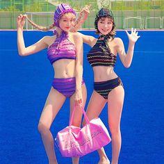 #chuu 츄멤님들 문의 많았던 #비키니 업데이트 완료#수영모 까지 세트아이템으로 더욱 귀욤귀욤하게 즐길 수 있어용 Girls Rules, Sexy Teens, Girl Smoking, Beautiful Asian Women, Swimsuits, Bikinis, Sexy Asian Girls, Korean Women, Ulzzang Girl