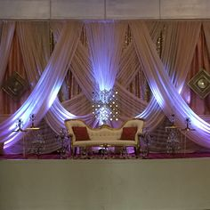 Reception Decor, an R&R Original. For Indian Wedding Decorations in the Bay Area, California; Contact R&R Event Rentals, Located in Union City & serving the Bay Area and Beyond.