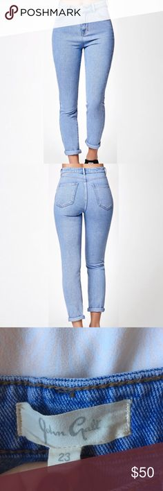 John Galt mom jeans Just like the picture in person. Size 23 but fits more like a size 24 depending on how tight you like your mom jeans. Very cute and never worn Brandy Melville Jeans
