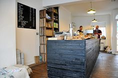 Coffee at Trafalgar Street, Brighton – small cafe, great coffee Coffee Shop Counter, Coffee Presentation, Tea Lounge, Coffee Nook, Shops, Small Cafe, Dark Interiors, Great Coffee, Cafe Restaurant