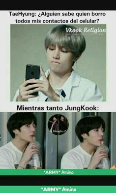 "Read from the story ¡Enamorado de mi Acosador!""༄! KookV,/ Taekook by (𝗦𝗰𝗲𝗻𝗮𝗿𝘆_🦁) with 366 reads. Memes Bts Español, Vkook Memes, Funny Memes, Foto Bts, Bts Photo, Bts Taehyung, Bts Jimin, Taekook, K Pop"