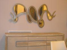 HAND MADE MIIROR BY WOOD.-Δείγμα απ τη μεγαλύτερη  γκάμα χειροποίητων καθρεφτών στην Ελλάδα. .-Το σύνολο μπορείτε να το δείτε στο/// www.x-esio.gr Entryway Tables, Modern Mirrors, Furniture, Home Decor, Decoration Home, Room Decor, Home Furnishings, Home Interior Design, Home Decoration