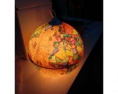 Kreatívne závesné svietidlo GLOBUS (4) Pumpkin Carving, Luster, Christmas Bulbs, Table Lamp, Blog, Holiday Decor, Design, Home Decor, Globe