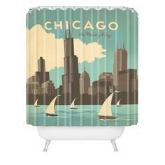 Anderson Design Group Chicago Shower Curtain   DENY Designs Home Accessories