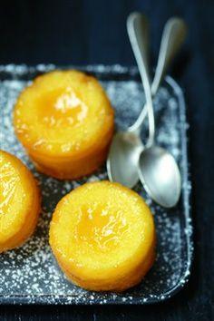Fondants au citron, cœur de lemon curd