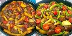 Fırında Patates Köfte Tarifi Kefir, Pork, Beef, Canning, Cake, Ethnic Recipes, Gastronomia, Kitchens, Kale Stir Fry