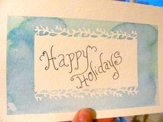 The Lettered Set: Make your own greeting cards using watercolors and stencils
