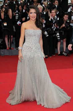 Salma Hayek in Gucci Premiere, 2011 - The Most Stunning Cannes Film Festival Gowns of All Time  - Photos