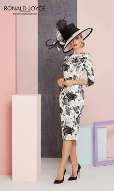 Veni Infantino Mother Of The Bride Dress 991331 Black White Occasion Wear Dresses, Dresses To Wear To A Wedding, Special Occasion Dresses, Trendy Dresses, Nice Dresses, Dresses With Sleeves, Mother Of Bride Outfits, Mother Of The Bride, Groom Outfit