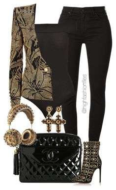 """""""Labeled"""" by highfashionfiles ❤ liked on Polyvore featuring Miss Selfridge, Balmain, Chanel, Alaïa and Dolce&Gabbana"""