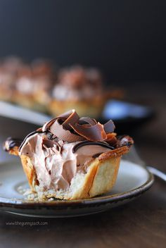 Nutella and Chocolate Pie