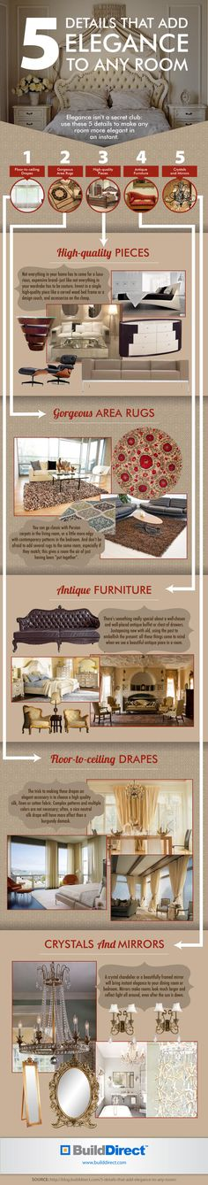 5 Details That Add Elegance: An Infographic