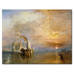 Trademark Fine Art The Fighting Temeraire 1839 by Joseph Turner Canvas Wall Art 18x24Inch -- Click on the image for additional details.Note:It is affiliate link to Amazon. #commentteam