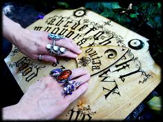 OUIJA BOARD ~Hand Made OOAK Piece~ SPELLED BY COVEN- paranormal spirit witch