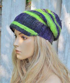 5720688a2a8 Items similar to Women s newsboy hat Crochet newsboy hat Women s winter hat  Green hat Crochet beanie slouchy Navy blue hat Fashion newsboy Girls Hat  Degra2 ...