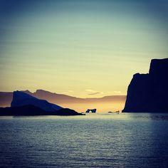 Midnight sun view in Geeenland