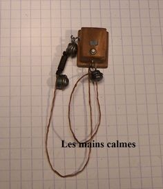 """les mains calmes: Téléphone miniature """" Dring Dring """""""